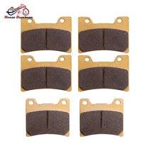 3pair Motorcycle Front Rear Brake Pads Disk For YAMAHA FZR 600 R TDM 850 V- - MAX 12 1991 1992 1993 1994 1995 1996 1997 1998