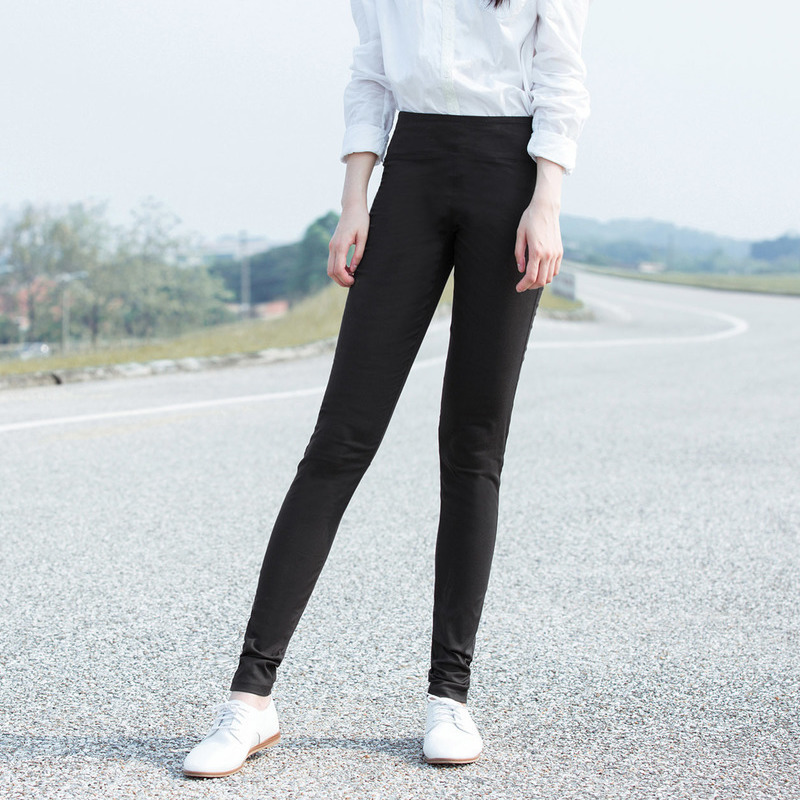 INMAN Women's Spring Autumn New Elastic Skinny Pants Wear Outside