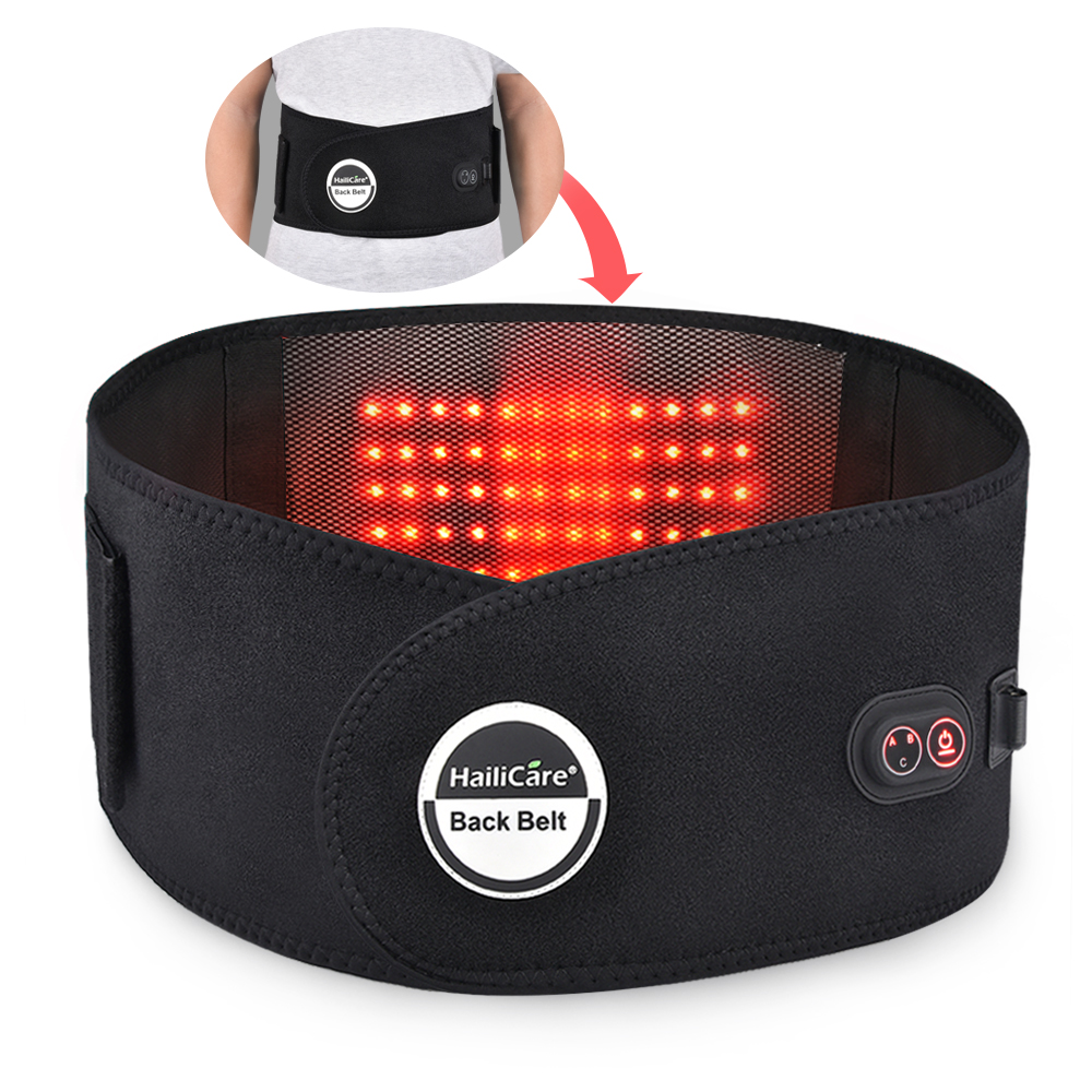 Far infrared Heat Therapy Waist Massage Back Belt Herniated Disc Scoliosis Back Pain Lower Support Brace