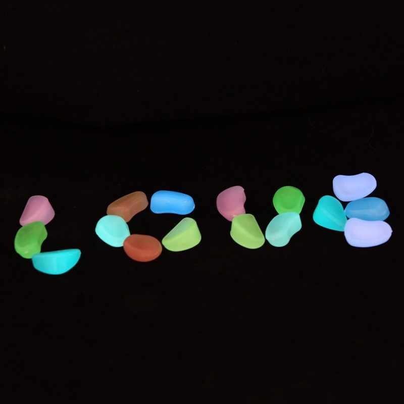 1pc Luminous Light-emitting Artificial Pebble Stone Fish Tank Aquarium Decoration