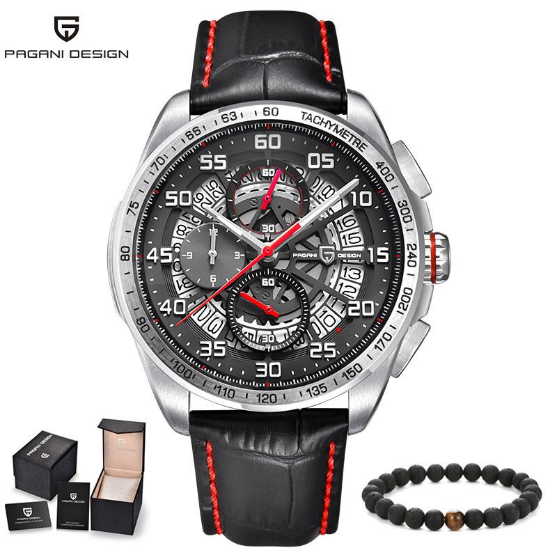 Pagani Men's Watches Luxury Brand Big Watch men 3D Hollow Dial Quartz Military Sports Wristwatch Leather Strap Relogio Masculino longbo men military watches complex big dial leather strap wristwatch male outdoor sports quartz watch life waterproof uhren men