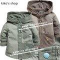 59 - 80 см высота новорожденных слой мальчик верхней одежды весна и осень дети куртка с капюшоном детская хлопка пальто
