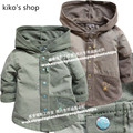 59-80cm height  Neonatal coat baby boy outerwear spring and autumn children Thin Hooded Jacket Children's cotton coats