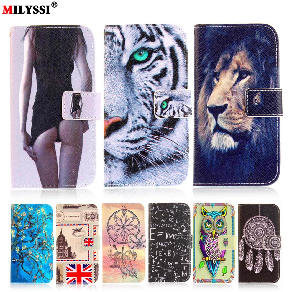 Luxury Side Print <font><b>Leather</b></font> Phone <font><b>Case</b></font> for <font><b>Samsung</b></font> Galaxy S3 S4 <font><b>S5</b></font> S6 S7 S8 mini Edge Plus Flip Cover with Card Slots Phone Shell image