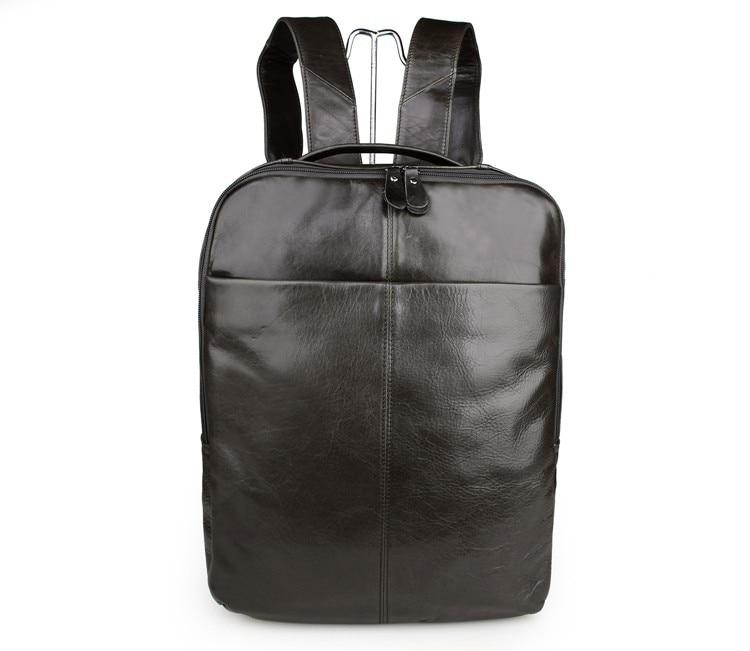 JMD Durable Vintage Genuine Leather Unisex Backpack School Bag # 7280J usb flash накопитель transcend jetflash 620 64gb