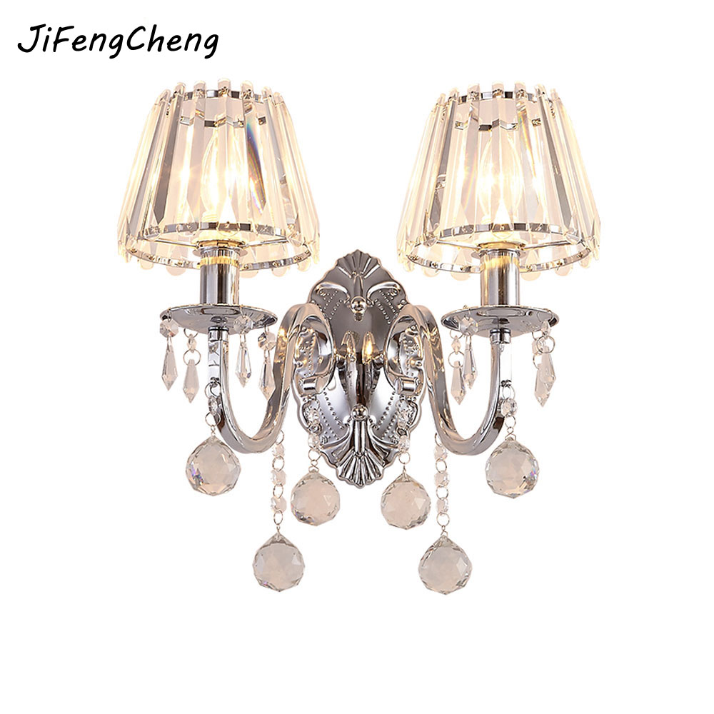 Modern Simple Fashion Wall Lamp Personality Led Aisle Bedside Single Double Head Wall Lamp Hotel Model Room round crystal lamp bedroom bedside lamp wall lamp simple modern personality aisle led living room wall
