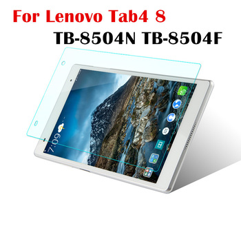 цена на Tempered Glass for Lenovo Tab 4 8 TB-8504F TB-8504N TB-8504X Tab4 8.0 inch Tablet Screen Protector Film Guard Cover 9H 0.3mm