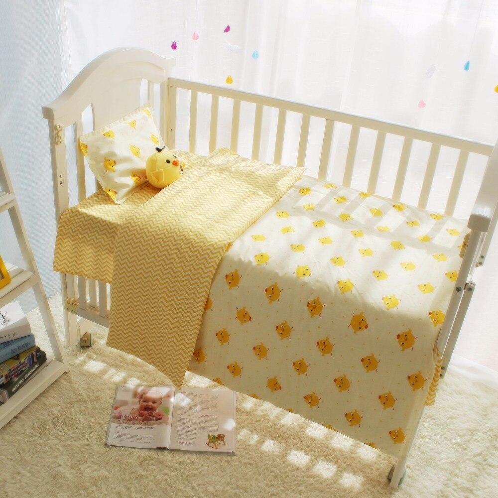 Baby bed sheet pattern - Baby Bed Sheet Pattern Cute Cartoon Chicken Pattern Infant Baby Crib Bedding Set Boys Girls