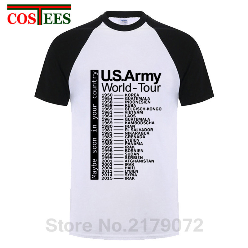 44b97c63 Product name: Funny concert t-shirt men The US Army World Tour T shirts  homme funny military design tshirt fashion leisure rock music Tops Tee