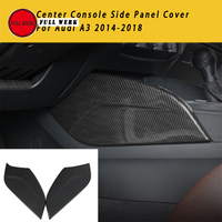 1 Pair ABS Car Center Console Side Panel Decoration Cover Trim Sticker Decor for Audi A3 2014 2018 Carbon Fiber Look