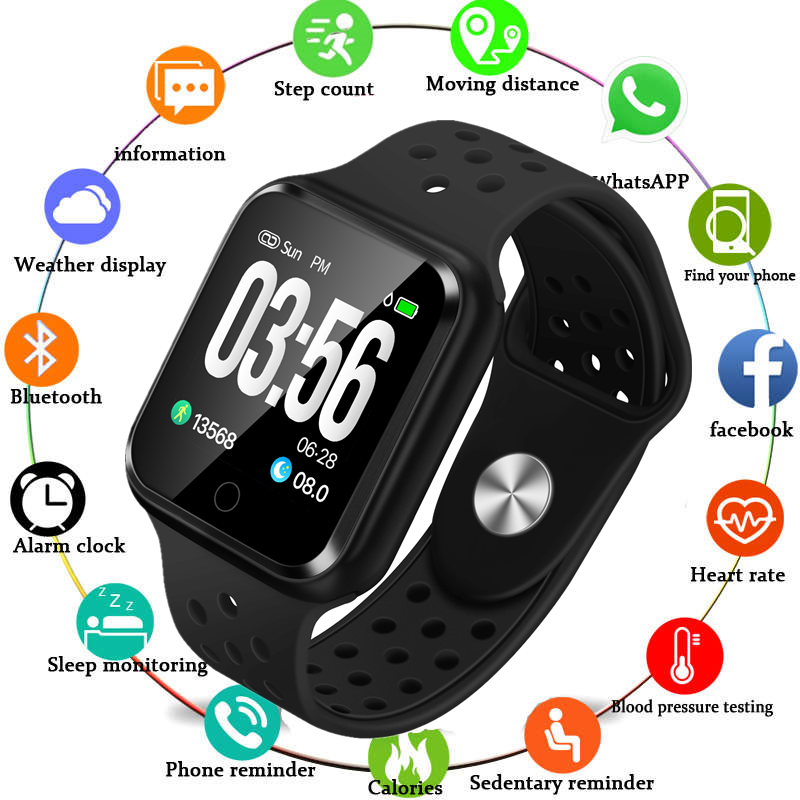 Smart-Watch Fitness-Tracker Monitor-Blood-Pressure Android Women Sport for Ios