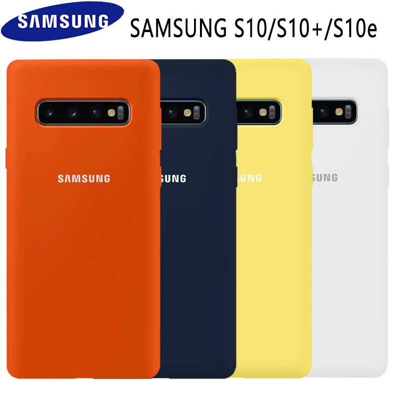 Samsung S10 Case Original High Quality Soft Silicone 360 Full Protector Cover Samsung Galaxy S10 Plus Case Galaxy S10 S10e Case in Fitted Cases from Cellphones Telecommunications