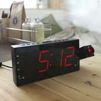 New Led Digital Radio Alarm Clock Electronic Desk Table Bedisde Mute Candy Clocks Luminous Watch Timer