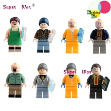 8pcs Star wars super heroes Breaking Bad Badger Jesse Pinkman Hank Schrader Saul models kits building