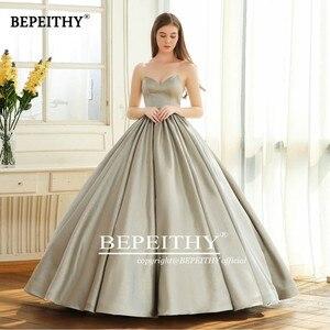 Image 3 - Bepeithy querida do vintage vestido de noite festa elegante 2020 brilho glitter tecido vestido baile vestidos de baile robe de soiree