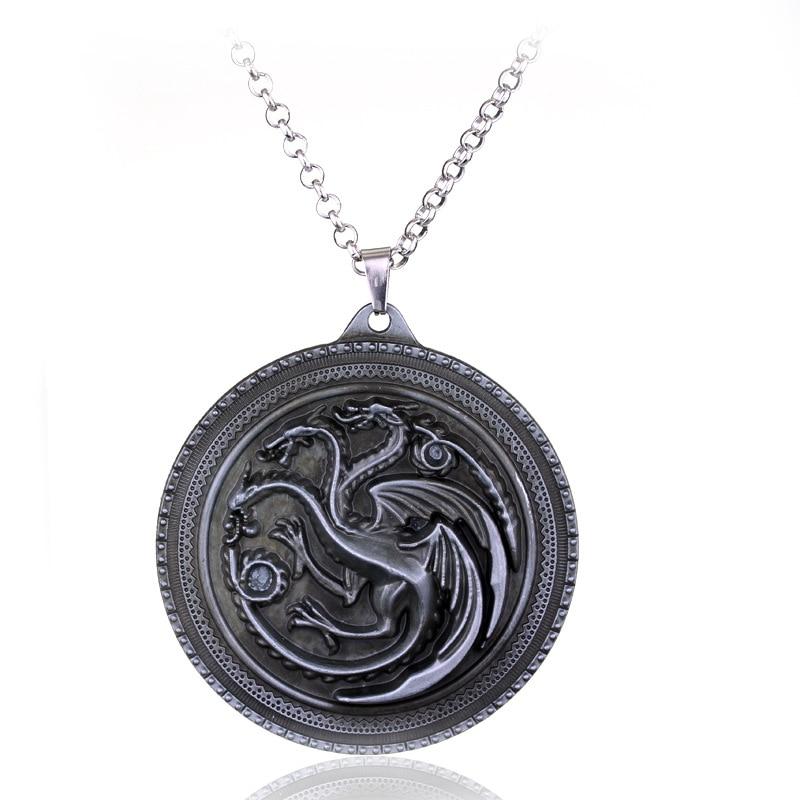Vægt 40g Game of Thrones Stark Familie Goshawk Head Badge Wolf Chain - Mode smykker - Foto 5