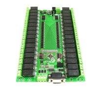 RS232/RS485 serial port control 32 relay module control switch board IO board