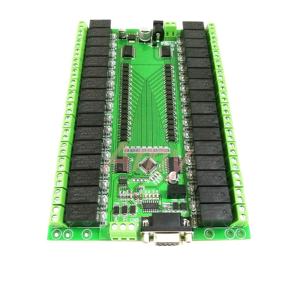 Rs232/rs485 controle de porta serial 32 módulo relé placa interruptor controle io