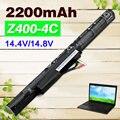 4 cells Laptop Battery L12L4K01 L12S4E21 L12S4K01 L12M4E21 L12M4K0 For Lenovo IdeaPad Z400 Z400A Z500 P400 P500 2200mAh Black