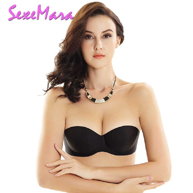 7dd43011ea010 Detail Feedback Questions about Half Cup Seamless Bras Wire Free Invisible  Push Up Bra Strapless Bras for Formal Dress Small Breasts Ladies Bra  Wireless ...