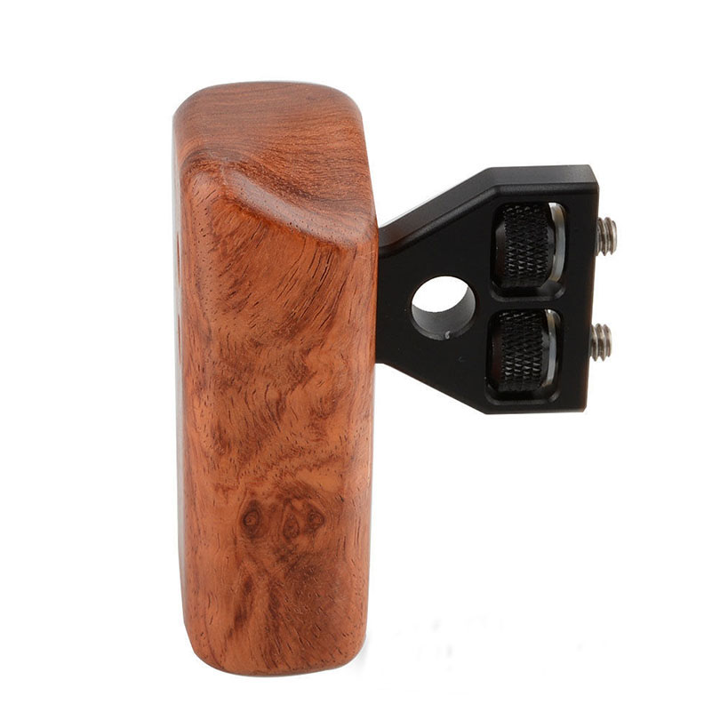 CAMVATE DSLR Wooden Handle Grip (Left Handle) For DV Video Cage Rig Camara Fotografia Accessories C1242