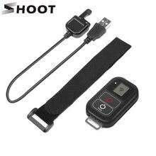Стрелять 0.8 дюймов Водонепроницаемый Беспроводной Wi-Fi Дистанционное управление для GoPro Hero 5 4 3 +/3 с USB Зарядное устройство кабель Дистанционное Go Pro Интимные аксессуары