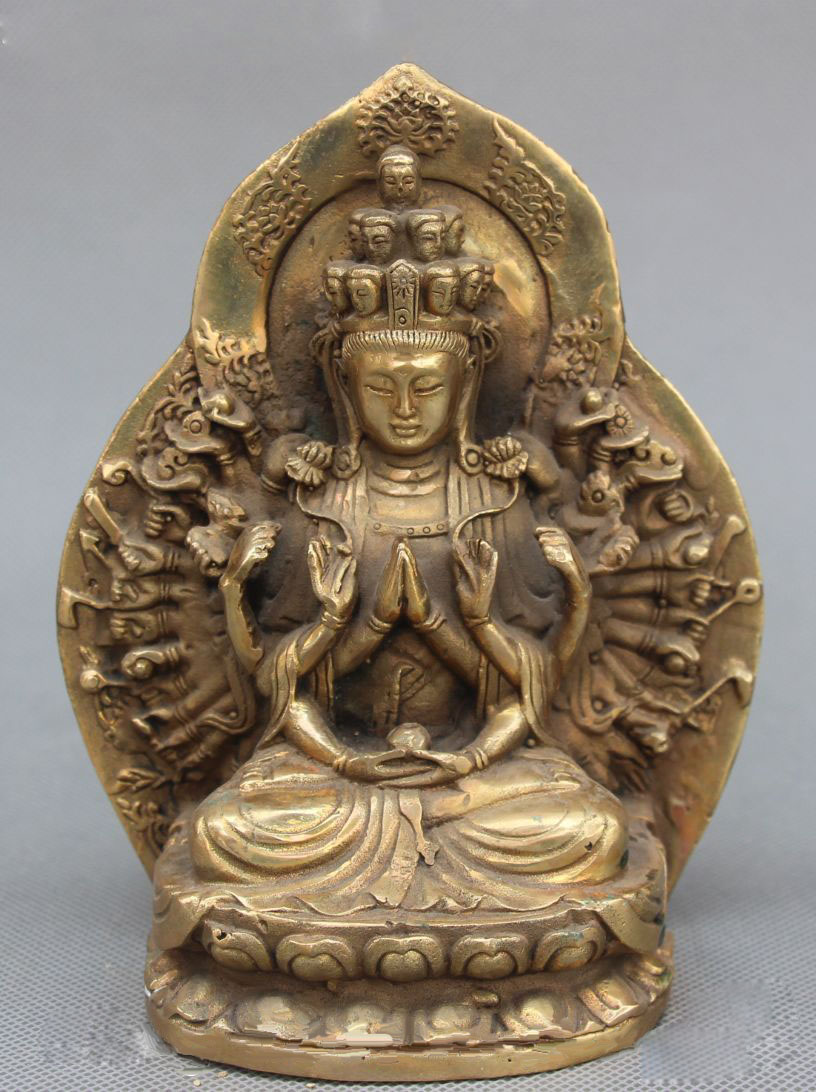 Free Shipping  Chinese Bronze Lotus 1000 Arms Avalokiteshvara Kwan-yin Guanyin Goddess StatueFree Shipping  Chinese Bronze Lotus 1000 Arms Avalokiteshvara Kwan-yin Guanyin Goddess Statue