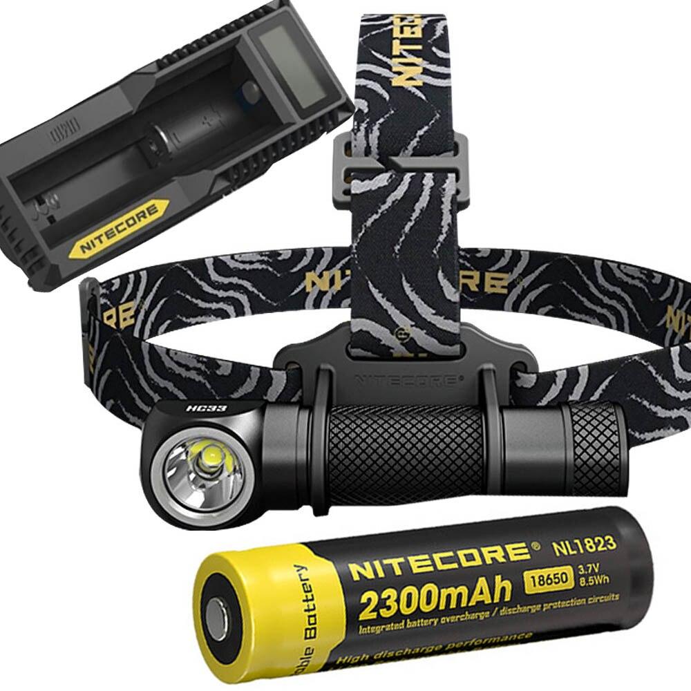 NITECORE HC33 Headlight Kit CREE XHP35 HD MAX. 1800 Lumen headlamp 8 working modes outdoor led head light + battery + charger nitecore ha20 led headlamp headlight helmet light
