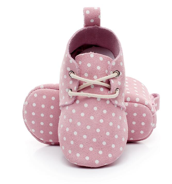 New Stylish Leopard Genuine Leather Mesh Print Lace Up Polka Dot Soft Sole Girl Boy Baby Moccasins Baby Shoes First Walkers 2019
