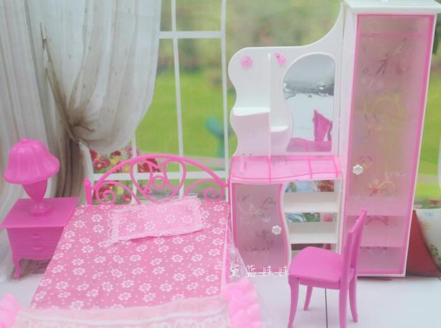 Kinderen Meisje Alledaagse Speelgoed Bed Prinses case voor barbie ...