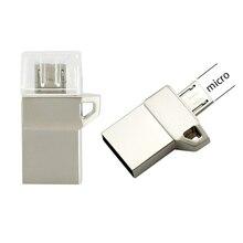 OTG USB Flash Drive OTG USB 16G 32G 64G USB2.0 Mini Pen Drive Tiny Pendrive Memory Stick Storage Device WaterProof U Disk