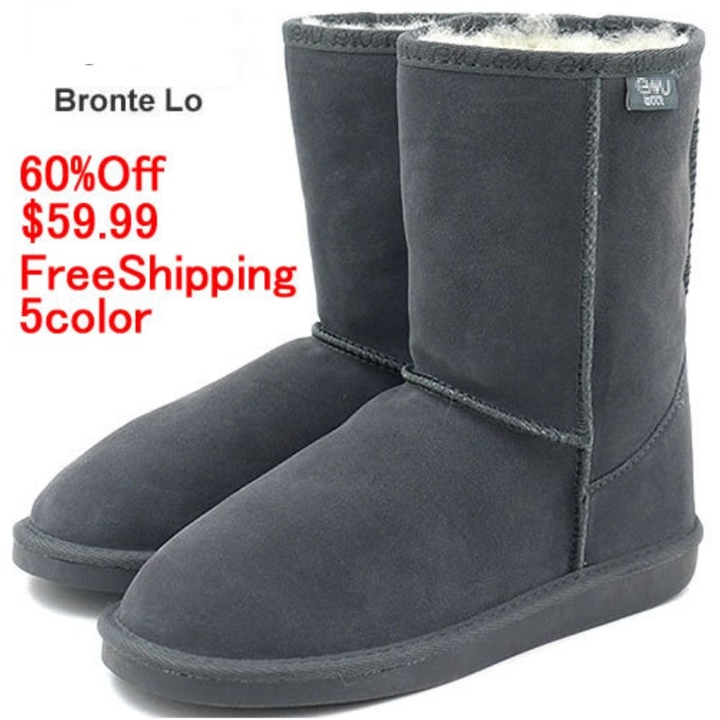 ФОТО EMU Bronte Lo(W20002) Cow-Suede Genuine with 100% Wool inner Winter Snow Boots 5colors emu02kafei