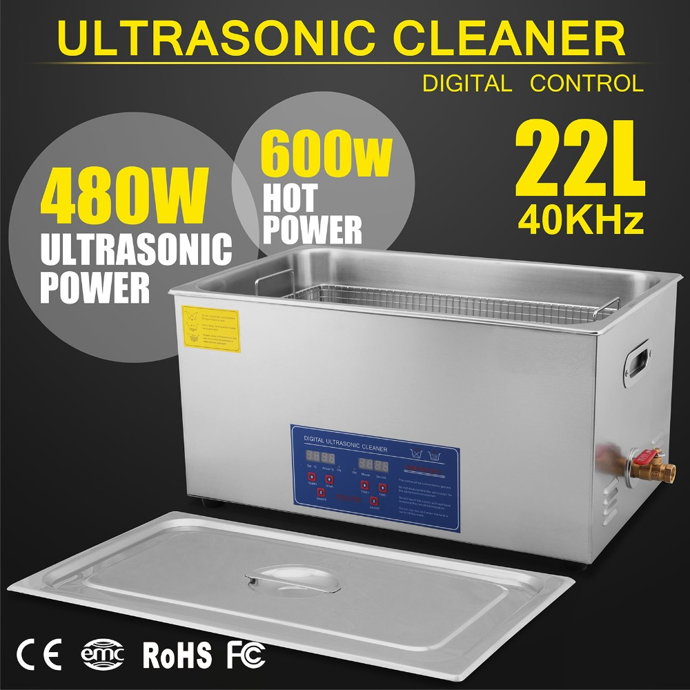 Digital Ultrasonic Cleaner Cleaning Machine 22L Ultrasonic Cleaner + Basket