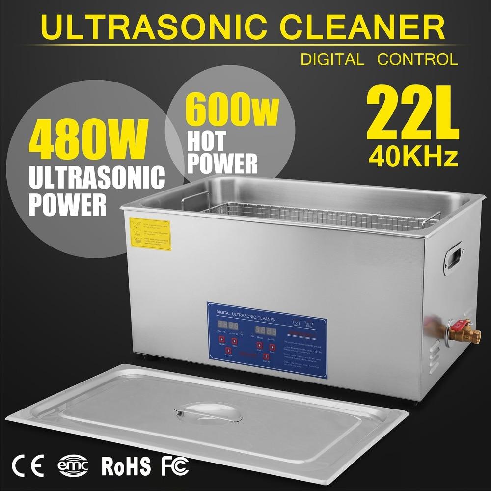 Digital Ultrasonic Cleaner Cleaning Machine 22L Ultrasonic Cleaner + Basket
