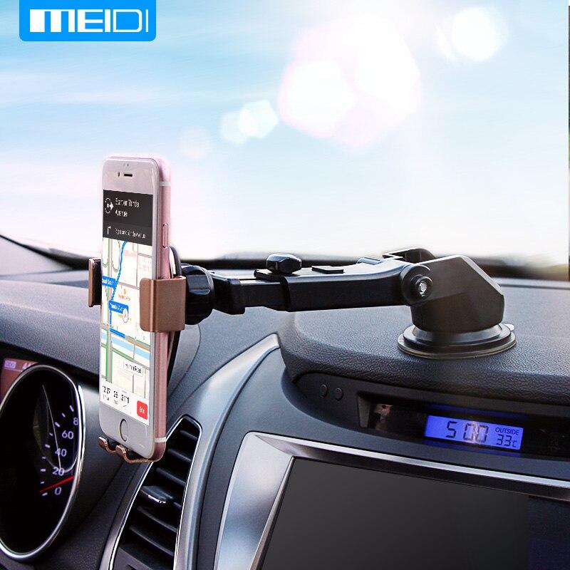 MEIDI Schwerkraft Autotelefonhalter Saug Windschutzscheibenhalterung Ständer für iPhone/Samsung/Xiaomi Handy-Halter in Auto