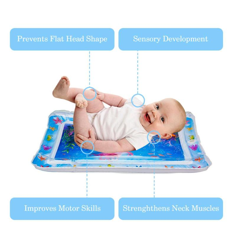 HTB1cqWeSwHqK1RjSZFPq6AwapXah Baby Inflatable Water Play Mat Infant Gym Playmat Kids Thicken PVC Creative Dual Use Patted Pad Toy Toddler Funny Cushion Toy