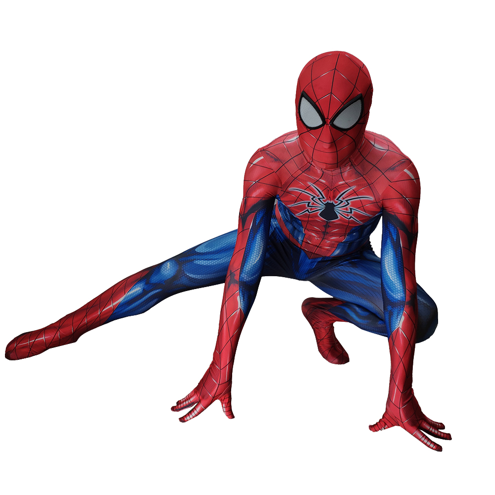Spiderman Cosplay kids adult Jumpsuit Cosplay Costume Amazing Spiderman Movie Party Halloween Stage Gift Drop Ship