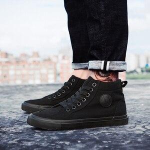 Image 5 - ZYYZYM Scarpe Da Uomo Primavera Autunno Lace up High Top Uomini di Stile Vulcanize Scarpe Appartamenti di Moda Giovani Uomini Scarpe di Tela scarpe da ginnastica