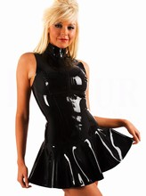 Wholesale Retail Sexy Products Women Sexy Black PVC Dress Plus Size S XXL Adult Couple Game