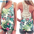 Durable 2016 Fashion Summer Style  tank top Women Summer Lace Vest Top Short Sleeve Blouse Casual Tank Tops T-Shirt