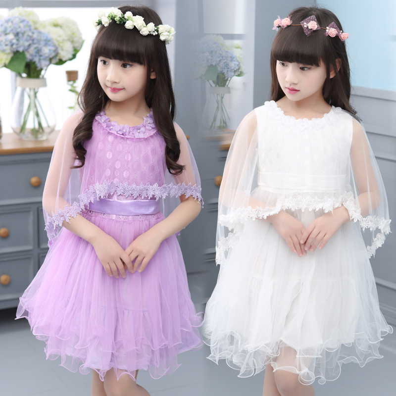 Princess Dressses For Girls Ball Gown Lace Party Dress Girls Clothing Elegant Kids Clothes Summer Sundress Tutu Dress For Child azel elegant latest new child dress for 2 3 year old girls vestidos fashion summer kid clothing little girls daily clothes 2017