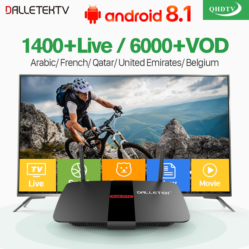 Leadcool R1 Arabic France IPTV Box Android 8.1 RK3229 TV Receiver with QHDTV IPTV Subscription 1 year IPTV Arabic France Belgium