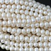 Natural White Freshwater Cultured Pearl Beads Charms Women Wholesale Retail High Grade Jewelry Making 15inch B1343