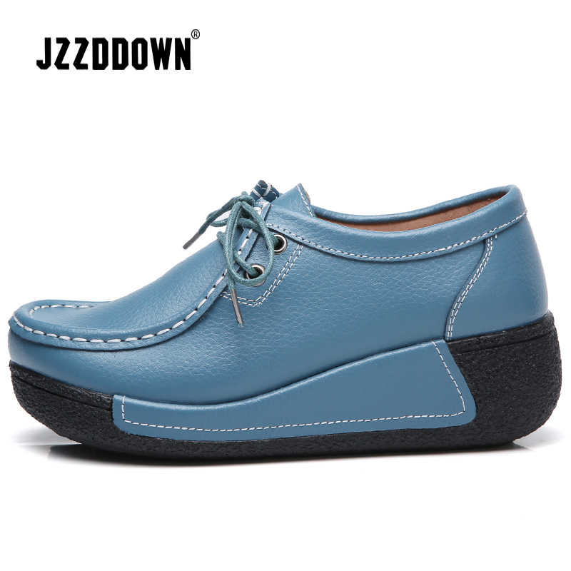 אמיתי פיצול עור נשים פלטפורמת סניקרס נעלי גבירותיי גדול בתוספת גודל נעל אישה מזדמנים פנאי הנעלה