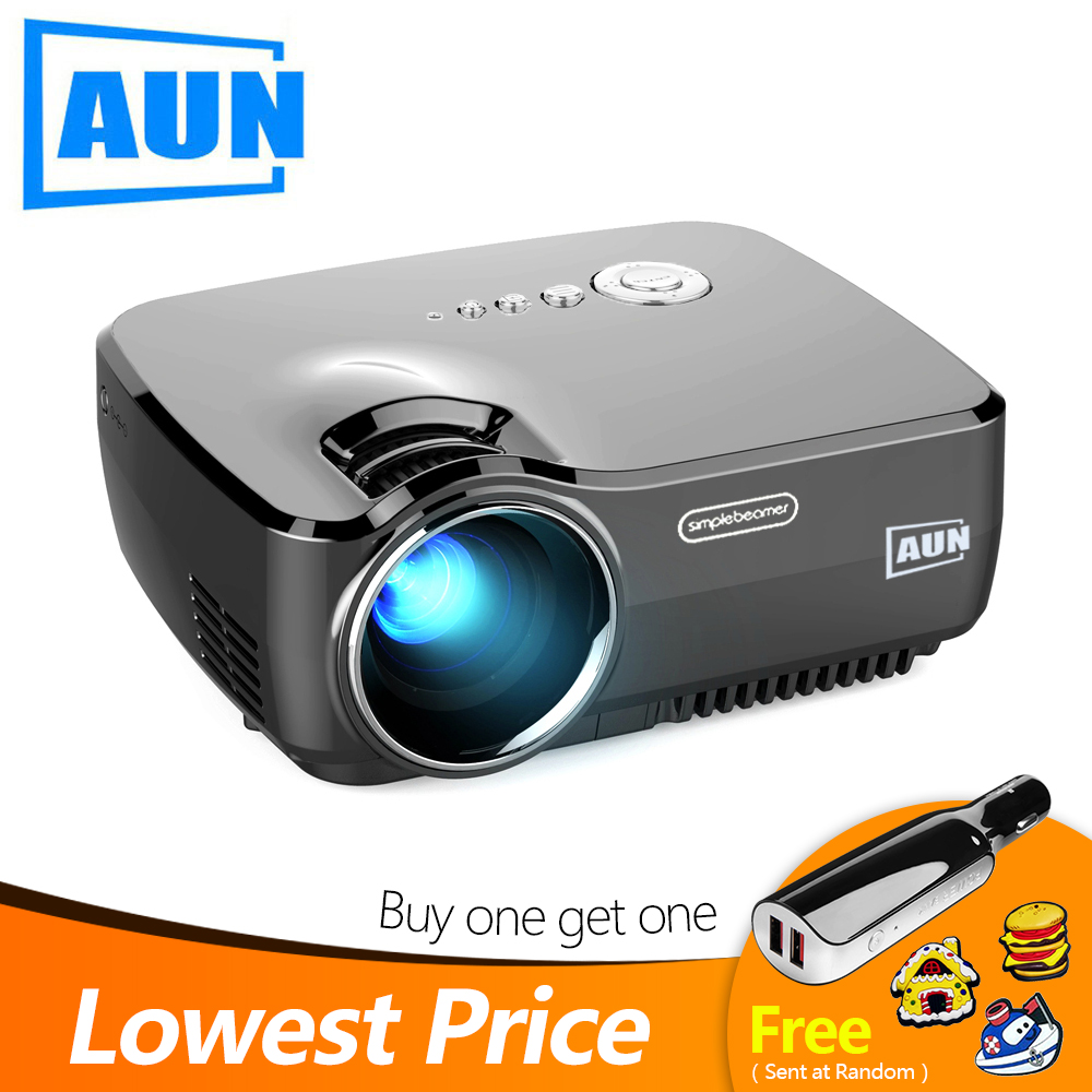 AUN LED Projector AM01 01P 1200Lumens 800 600P Home Theatre Optional Android Version with WiFi Bluetooth