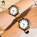 BAJEETA Cute Number Style Lovers Watch Student Fashion Sport Leather Quartz Men Women Watches Analog Wristwatch Hot Sale Clock