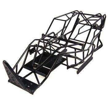 1/10 Escala RC Axial Wraw Camión Completo Metal Roll Cage Marco Chasis Negro Con Placa De Montaje ESC Para 1:10 Axial Wrature 90018