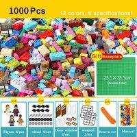 1000pcs Bricks Designer Creative Classic Brick DIY Building Blocks Educational Toys Bulk For Children Gift
