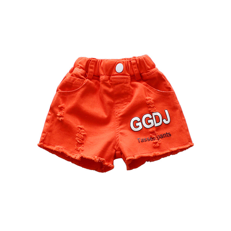 2018 Baby Boys Girls Shorts Kids Summer Clothes Letters Broken Hole Short Pants Children Clothing Todder Enfant Fille Trousers