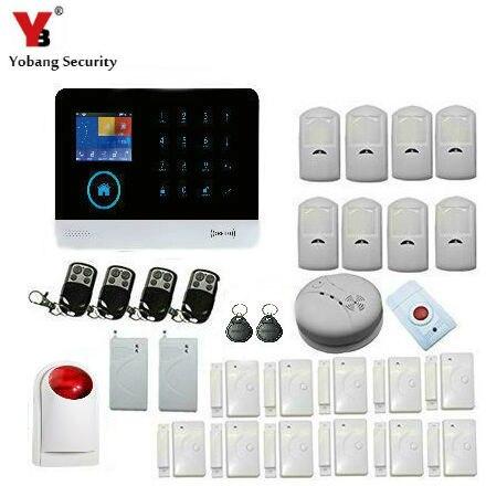 Yobang безопасности Беспроводной WI-FI сигнализации Системы GSM сигнализации безопасности для защиты дома движения PIR сигнализации вибрации датч...